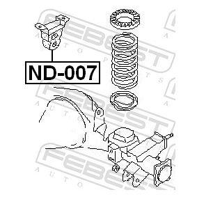 ND007 Anschlagpuffer, Federung FEBEST ND-007 - Große Auswahl - stark reduziert