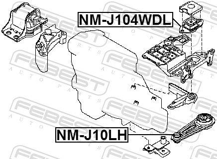 FEBEST   Lagerung, Schaltgetriebe NM-J104WDL