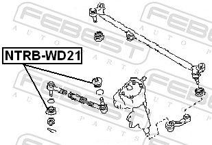 NTRB-WD21 Reparatursatz, Spurstangenkopf FEBEST - Markenprodukte billig