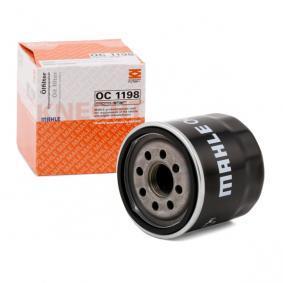 Filtro olio OC 1198 con un ottimo rapporto MAHLE ORIGINAL qualità/prezzo
