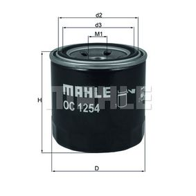 0072374161 KNECHT Filtro aparafusado Diâmetro interior 2: 48,0mm, Ø: 76,0mm, Altura: 80,1mm Filtro de óleo OC 1254 comprar económica