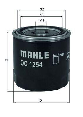 MAHLE ORIGINAL | Oil Filter OC 1254
