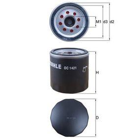 0072426267 KNECHT Skruvfilter Innerdiameter 2: 62,0mm, Ø: 76,0mm, H: 80,0mm Oljefilter OC 1421 köp lågt pris