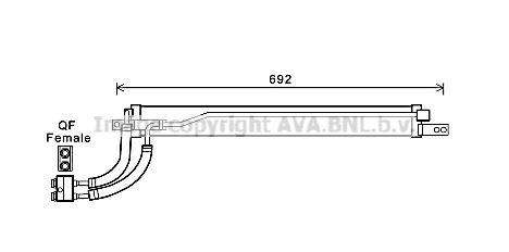 OPEL TIGRA Getriebe Ölkühler - Original PRASCO OL3675