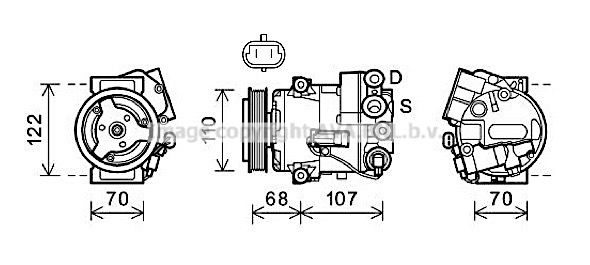 Kompressor Klimaanlage PRASCO OLAK594