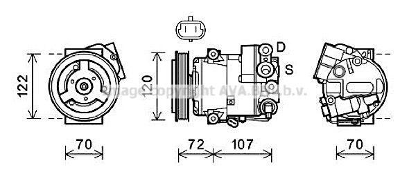 Kompressor PRASCO OLAK595
