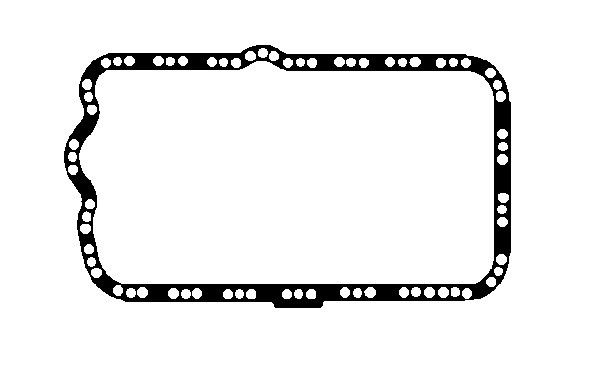 RENAULT AVANTIME 2003 Ölwannendichtung - Original BGA OP0325 Länge: 450mm