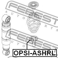 FEBEST   Spyruoklės dangtelis OPSI-ASHRL