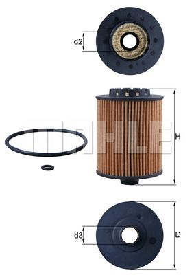 OX 1075D Filter MAHLE ORIGINAL - Markenprodukte billig