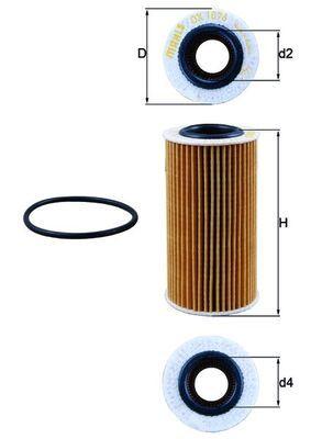 Ölfilter KNECHT OX 1076D