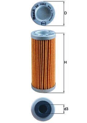 MAHLE ORIGINAL Oljefilter Filterinsats OX 1092 KTM