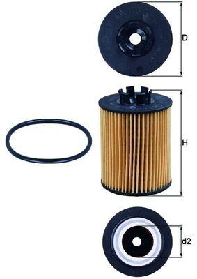 0072381128 KNECHT Filtereinsatz Innendurchmesser 2: 28mm, Innendurchmesser 2: 28mm, Ø: 62,2mm, Ø: 62,2mm, Höhe: 86mm Ölfilter OX 173/2D günstig kaufen
