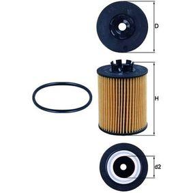 0072381128 KNECHT Filtereinsatz Innendurchmesser 2: 28,0mm, Ø: 62,2mm, Höhe: 86,0mm Ölfilter OX 173/2D günstig kaufen