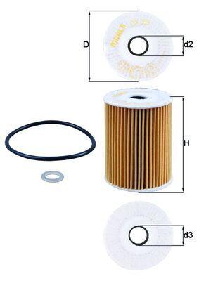 Buy original Oil filter MAHLE ORIGINAL OX 355D