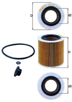 KNECHT Ölfilter OX 387D1