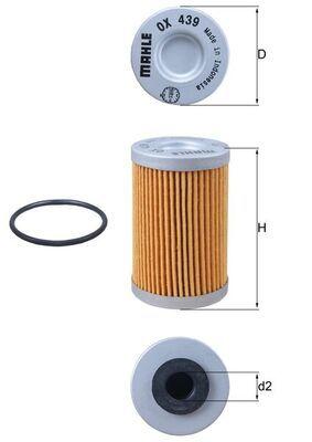 MAHLE ORIGINAL Filtr oleju Wkład filtra OX 439D KTM