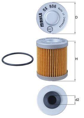 MAHLE ORIGINAL Filtr oleju Wkład filtra OX 806D KTM