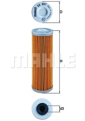MAHLE ORIGINAL Filtr oleju Wkład filtra OX 807 KTM