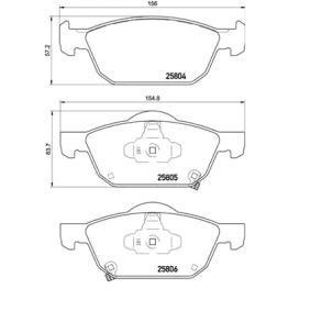 P28076 Bremsbelagsatz, Scheibenbremse BREMBO 25804 - Große Auswahl - stark reduziert