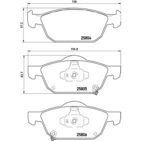 P 28 076 Bremsbelagsatz, Scheibenbremse BREMBO in Original Qualität