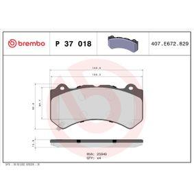 P 37 018 Bremsbelagsatz, Scheibenbremse BREMBO - Markenprodukte billig