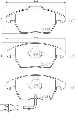 P85146 Bremsbeläge BREMBO 24696 - Große Auswahl - stark reduziert