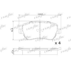 PD09505 Bremsbelagsatz, Scheibenbremse FRIGAIR PD09.505 - Große Auswahl - stark reduziert