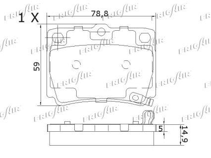 PD16.506 Kit Pastiglie Freno FRIGAIR prodotti di marca a buon mercato