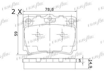 PD16.506 Kit Pasticche Freni FRIGAIR qualità originale