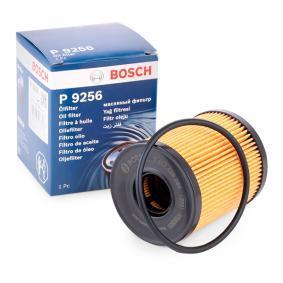 P9256 BOSCH Filtereinsatz Ø: 65mm, Höhe: 82,5mm, Höhe 1: 77mm Ölfilter 1 457 429 256 günstig kaufen