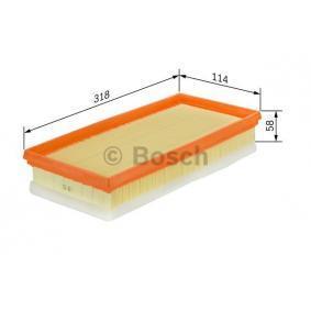Berlingo,C2,C3-Picasso,C4 Bosch 1457433160 CARTUCCIA FILTRO DI ARIA CITROEN