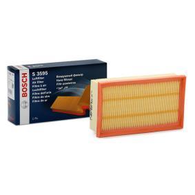 S3595 BOSCH Filtereinsatz Länge: 239mm, Breite: 140,5mm, Höhe: 58,25mm Luftfilter 1 457 433 595 günstig kaufen