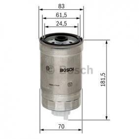 1 457 434 184 Kuro filtras BOSCH - Pigus kokybiški produktai