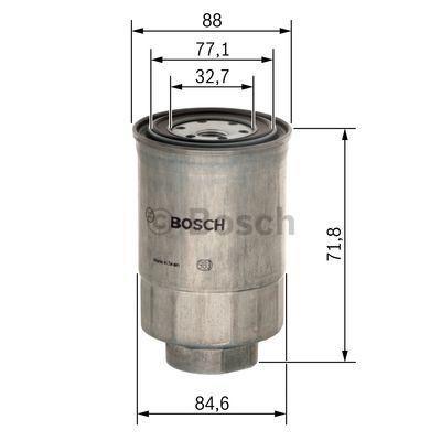 1 457 434 201 Filtre à carburant BOSCH - Produits de marque bon marché