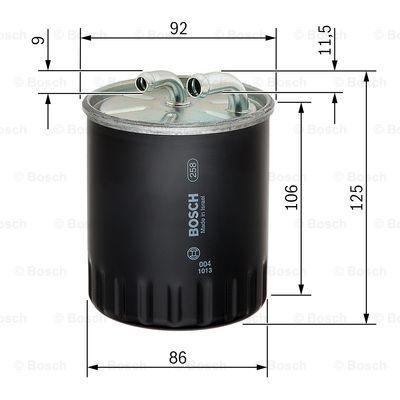 1 457 434 437 Filtre à carburant BOSCH - Produits de marque bon marché