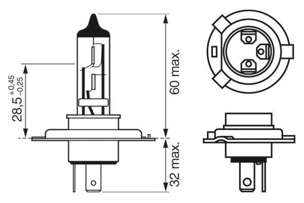 1 987 301 040 Glühlampe, Fernscheinwerfer BOSCH in Original Qualität