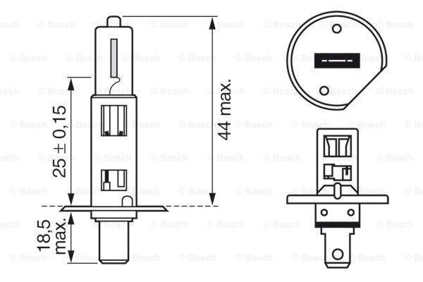 1 987 302 012 Glühlampe, Fernscheinwerfer BOSCH - Markenprodukte billig