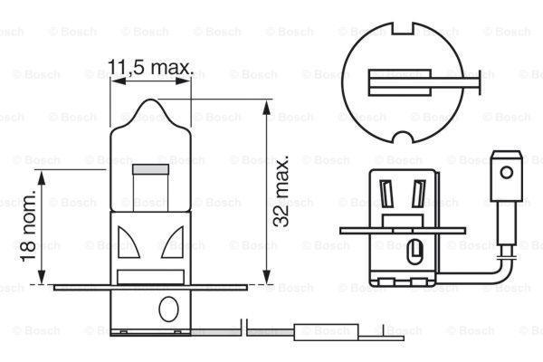 1 987 302 031 Glühlampe, Fernscheinwerfer BOSCH - Markenprodukte billig