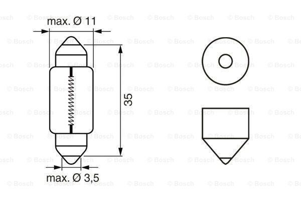 1987302211 glühbirne Pure Light WS BOSCH E12EL - Große Auswahl - stark reduziert