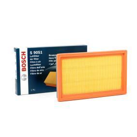 S9051 BOSCH Filtereinsatz Länge: 281mm, Breite: 168mm, Höhe: 36mm Luftfilter 1 987 429 051 günstig kaufen