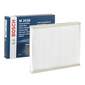 1987431038A603 BOSCH Partikelfilter Breite: 234mm, Höhe: 30mm, Länge: 267mm Filter, Innenraumluft 1 987 432 038 günstig kaufen