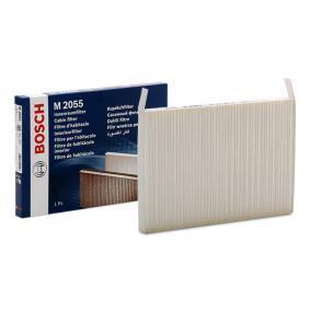 Køb M2055 BOSCH Partikelfilter Breite: 171mm, Höhe: 19mm, Länge: 251,5mm Kabineluftfilter 1 987 432 055 billige