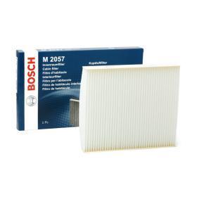 M2057 BOSCH Partikelfilter B: 216mm, H: 32mm, L: 252mm Filter, kupéventilation 1 987 432 057 köp lågt pris