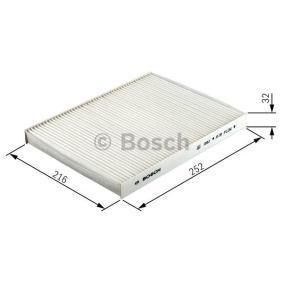 1987432057 Filter, kupéventilation BOSCH - Upplev rabatterade priser