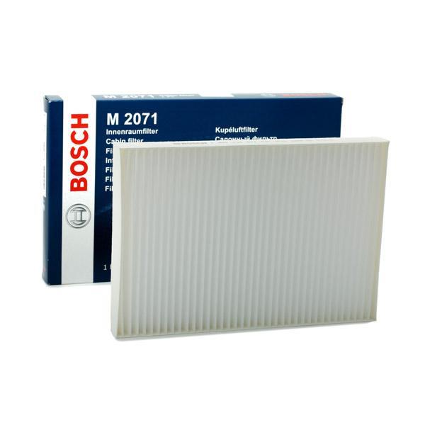 AUDI A6 2014 Innenraumluftfilter - Original BOSCH 1 987 432 071 Breite: 204,4mm, Höhe: 31mm, Länge: 300mm