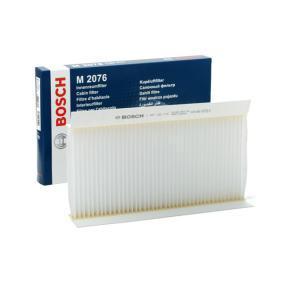 M2076 BOSCH Partikelfilter Breite: 165mm, Höhe: 30mm, Länge: 331mm Filter, Innenraumluft 1 987 432 076 günstig kaufen