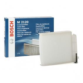 Køb M2120 BOSCH Partikelfilter Breite: 188,6mm, Höhe: 43mm, Länge: 225,5mm Kabineluftfilter 1 987 432 120 billige