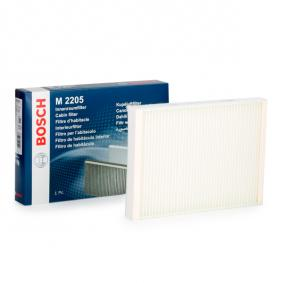 M2205 BOSCH Partikelfilter Breite: 194,5mm, Höhe: 33mm, Länge: 275mm Filter, Innenraumluft 1 987 432 205 günstig kaufen