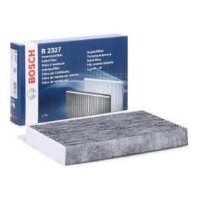 R2327 BOSCH Aktivkohlefilter, Partikelfilter Breite: 260mm, Höhe: 35mm, Länge: 150mm Filter, Innenraumluft 1 987 432 327 günstig kaufen