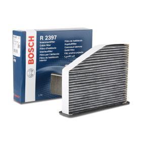 R2397 BOSCH Aktivkohlefilter Breite: 214,5mm, Höhe: 57mm, Länge: 287,1mm Filter, Innenraumluft 1 987 432 397 günstig kaufen